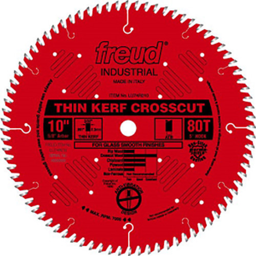 Freud Industrial CT Thin Kerf Ultimate Crosscut Saw Blade 10 x 80T