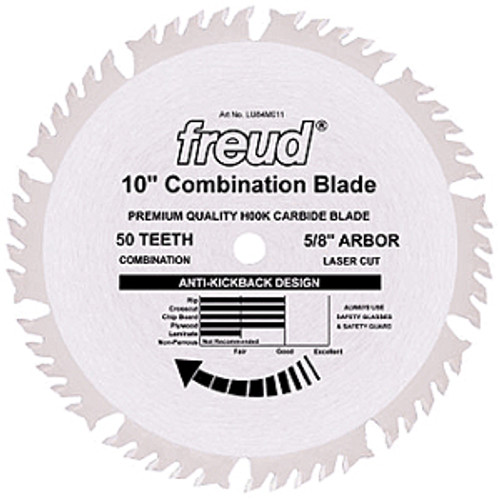 "Freud LU84M Circular Saw Blade, 10"" x 50T"