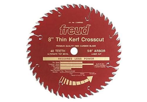 "Freud Thin Kerf LU88R CT Crosscut Saw Blade, 8"" x 48T"