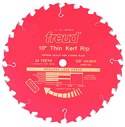 """Freud Thin Kerf Rip Saw Saw Blade LU87R, 10"""" x 24T"""
