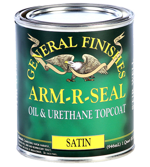General Finishes Arm-R-Seal Oil & Urethane Topcoat, Satin, Qt.