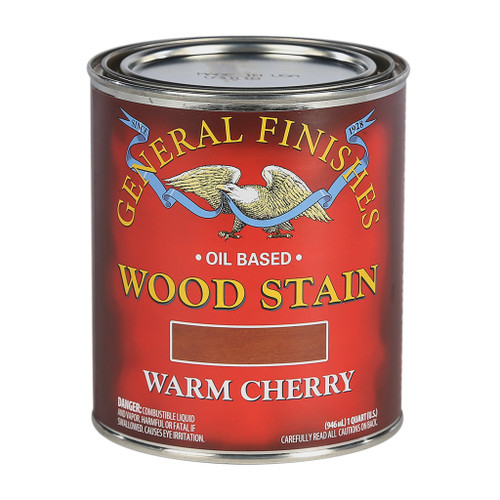 General Finishes Wood Stains, Warm Cherry, Qt.