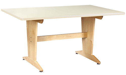 """Diversified Woodcrafts Planning Table 1-1/4"""" Laminate Top, 60""""W x 42""""D x 30""""H"""
