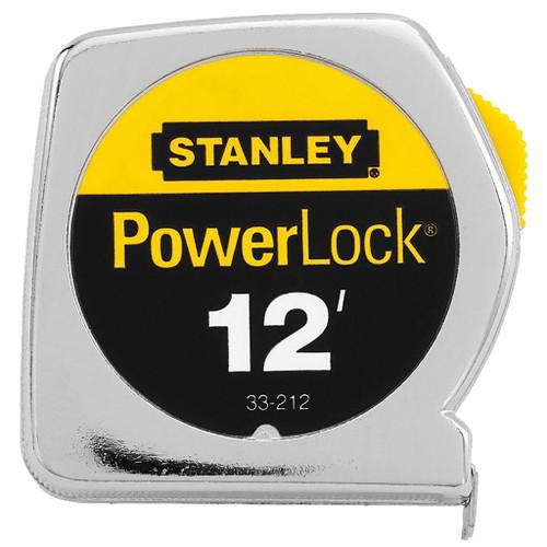 Stanley PowerLock Tape Measure, 12 ft x 1/2 in