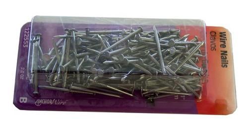 """Hillman Flat Head Wire Nails, 17, 1"""", 2 oz."""