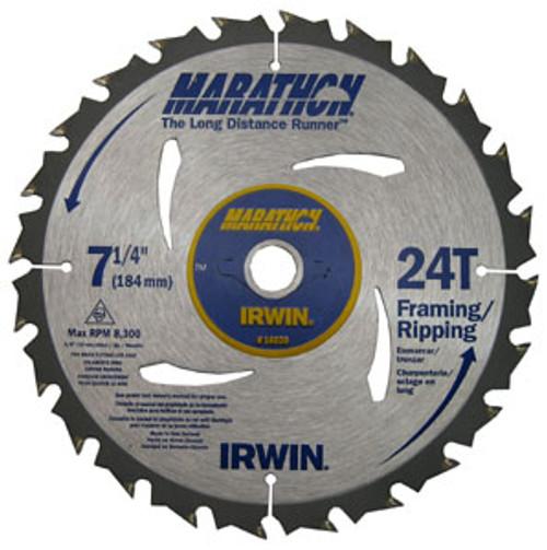"Irwin Carbide-tipped Circular Saw Blade, Marathon Series, 8""-8-1/4"", 30 TPI"