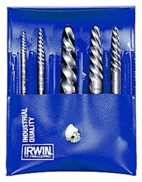 Irwin Spiral Screw Extractors, 5-Piece Set