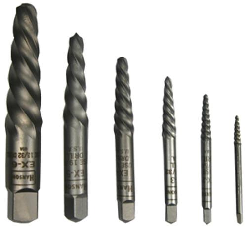Irwin Spiral Screw Extractors, 6-Piece Set