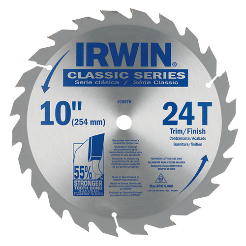 "Irwin Classic Series Saw Blade 10"" x 24T"