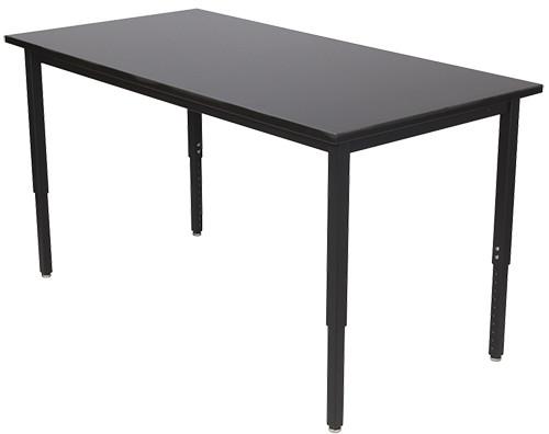 "Wisconsin Bench Lobo Table Adjustable Leg, 72""W x 30""D"