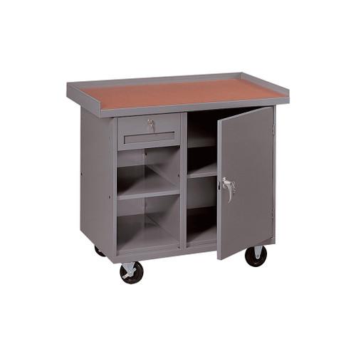 Tennsco Locking Mobile Cabinet, 1 Drawer