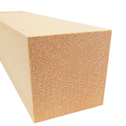 "Bud Nosen Balsa Wood Block, 3"" x 3"" x 12"", 1/pkg."