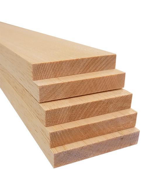 """Bud Nosen Balsa Wood Sheets,  1/2"""" x 3"""" x 36"""", 5/pkg."""