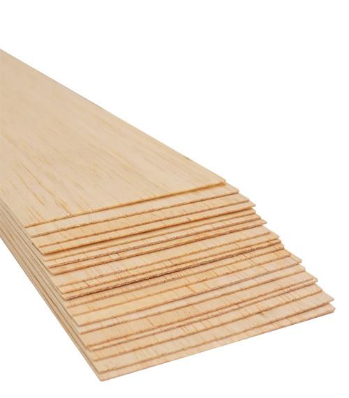 """Bud Nosen Balsa Wood Sheets,  1/32"""" x 3"""" x 36"""", 20/pkg."""