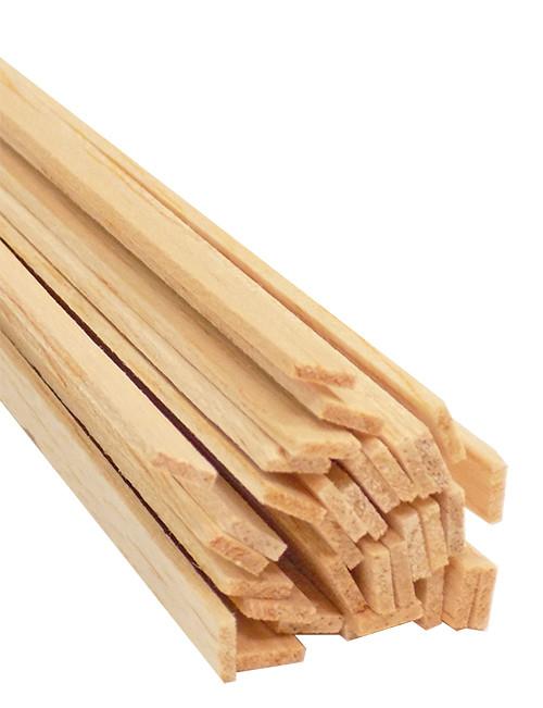 "Bud Nosen Balsa Wood Strips, 1/16"" x 1/4"" x 36"", 30/pkg."