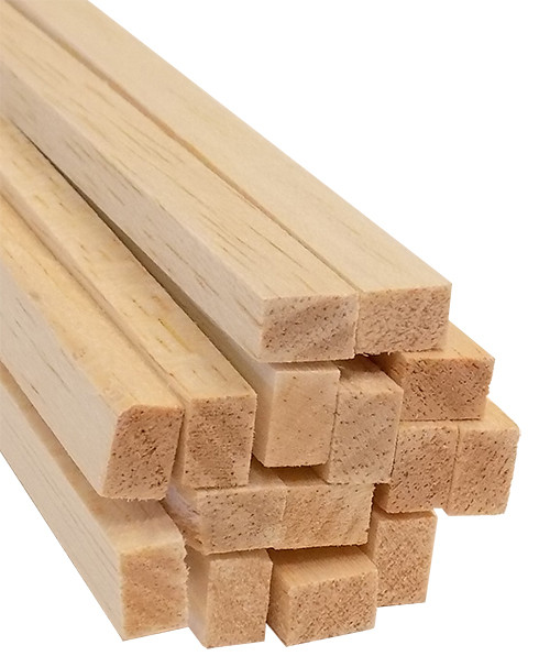 "Bud Nosen Balsa Wood Strips, 1/4"" x 3/8"" x 36"", 15/pkg."