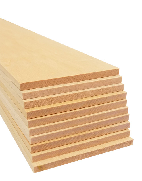 "Bud Nosen Basswood Sheets,  3/16"" x 3"" x 24"", 10/pkg."