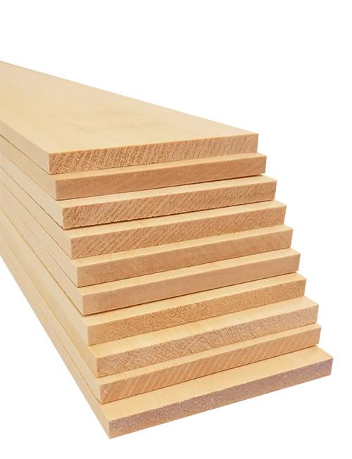 "Bud Nosen Basswood Sheets, 1/4"" x 3"" x 24"", 10/pkg."