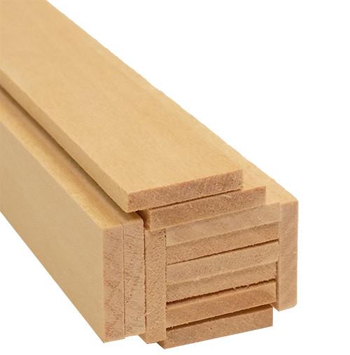 "Bud Nosen Basswood Strips, 1/8"" x 3/4"" x 24"", 12/pkg."