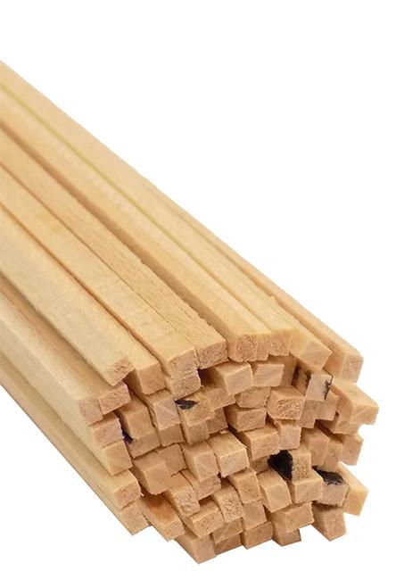 "Bud Nosen Basswood Strips, 1/16"" x 3/32"" x 24"", 60/pkg."