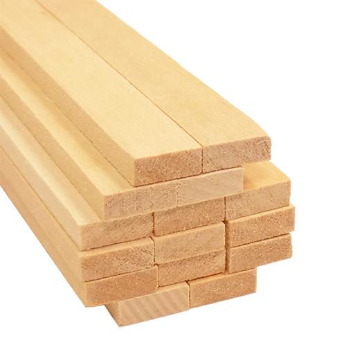 "Bud Nosen Basswood Strips, 3/16"" x 1/2"" x 24"", 15/pkg."
