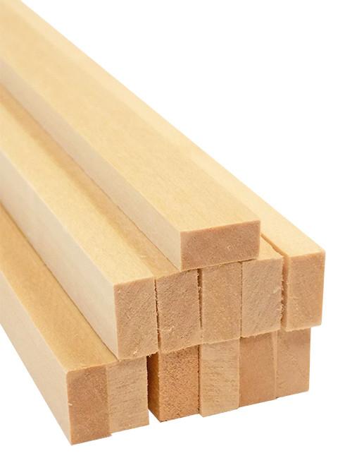 "Bud Nosen Basswood Strips, 1/4"" x 1/2"" x 24"", 12/pkg."