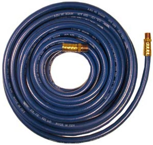 """Milton Blue PVC Air Hoses 1/4"""" male NPT, 3/8"""" x 50'"""