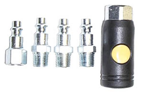 Milton M-style Push-button Safety Coupler & Plug Kit, 5-Piece