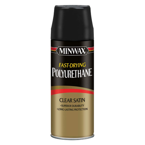 Minwax Fast-Drying Polyurethane Spray, Clear Satin, 11.5 oz.