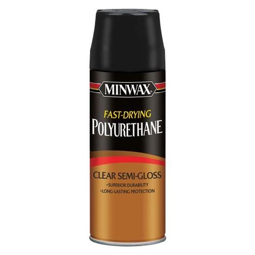 Minwax Fast-Drying Polyurethane Spray, Clear Semi-Gloss, 11.5 oz.