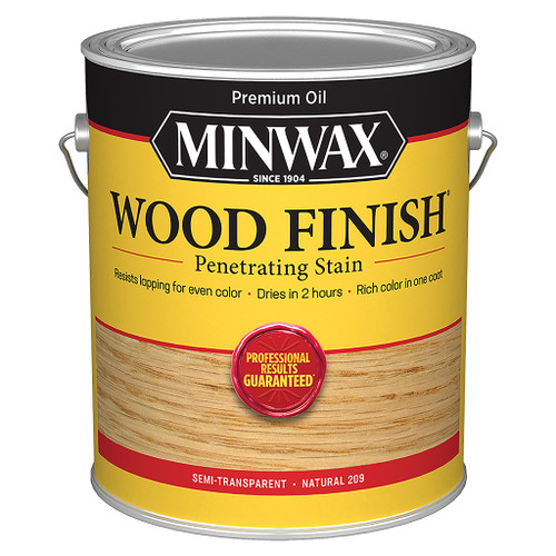 Minwax Wood Finish Wood Stain, Natural, Gal.