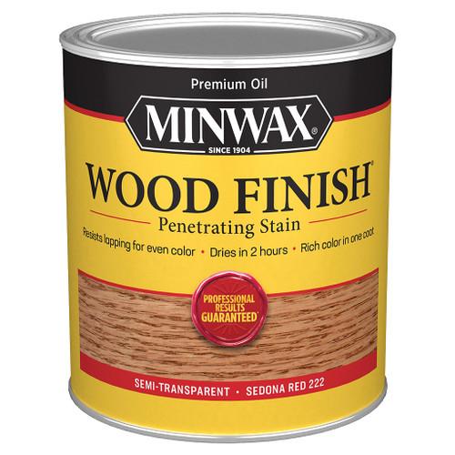 Minwax Wood Finish Wood Stain, Sedona Red, Quart