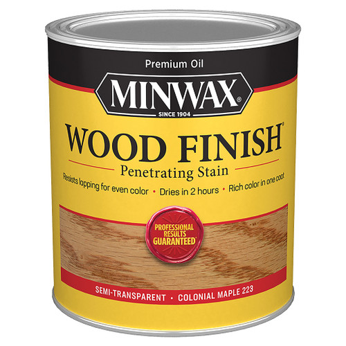 Minwax Wood Finish Wood Stain, Colonial Maple, Qt.