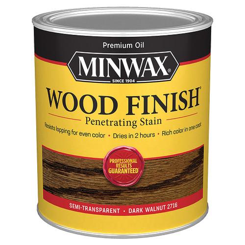 Minwax Wood Finish Wood Stain, Dark Walnut, Qt.