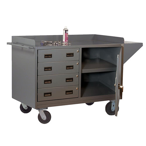 Durham Mobile Bench Cabinet w/4 Drawers