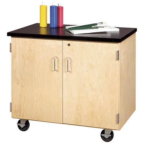 Diversified Woodcrafts Mobile Demonstration Cabinet with Locking Doors