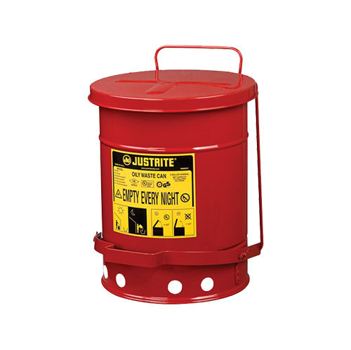 Justrite Oily Waste Can, 6 Gal.