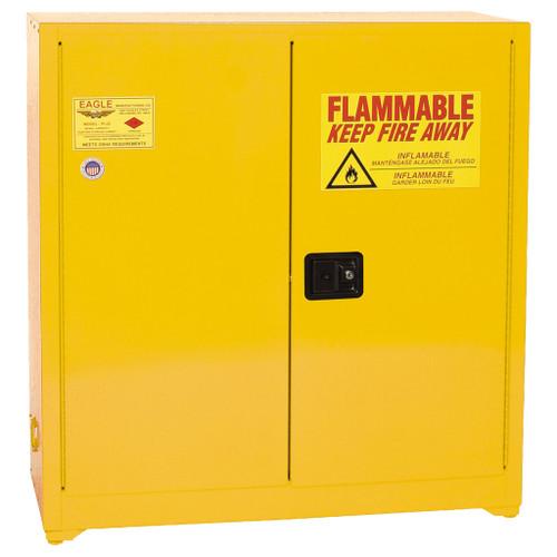 Eagle Flammable Liquid Cabinet, Paint & Ink, 2-Door Manual Close, 40 Gal.
