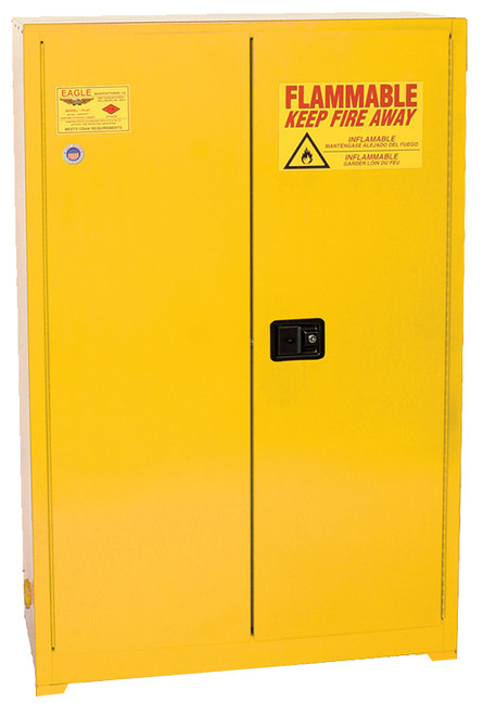 Eagle Flammable Liquid Cabinet, Paint & Ink, 2-Door Manual Close, 60 Gal.