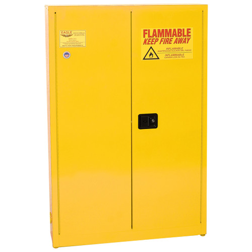 Eagle Flammable Liquid Cabinet, Paint & Ink, 2-Door Manual Close, 30 Gal.