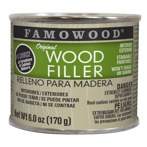 Famowood Professional Solvent-based Wood Filler, 6 oz., Birch