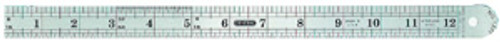 """General Rounded-End Steel Rule, 12"""""""