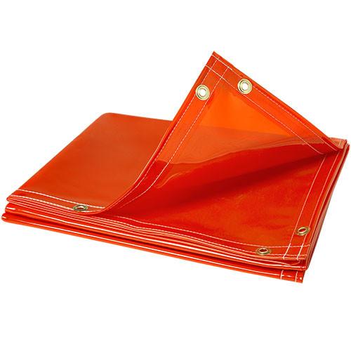 Steiner ArcView 14 mil Flame Retardant Safety Welding Curtains, Orange, 6' x 6'