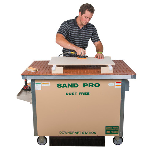 "SandMan Sand Pro Downdraft Sanding Station, Economy Wood Model, 48"""
