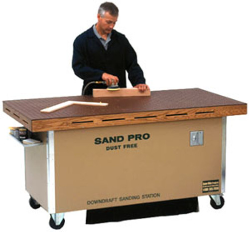 SandMan Sand Pro Downdraft Sanding Station, Economy Wood Model, 72""