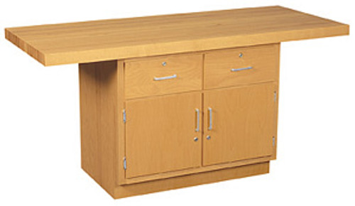 """Diversified Woodcrafts 2-Station Work Bench with One 7"""" Vise"""