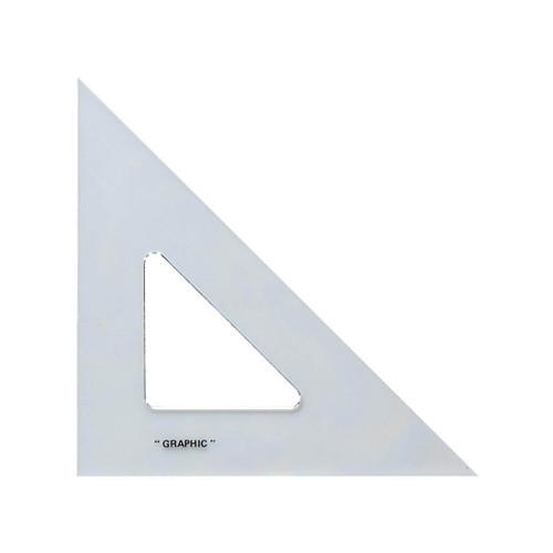 "Alvin Transparent Triangle, 45/90, 6"""