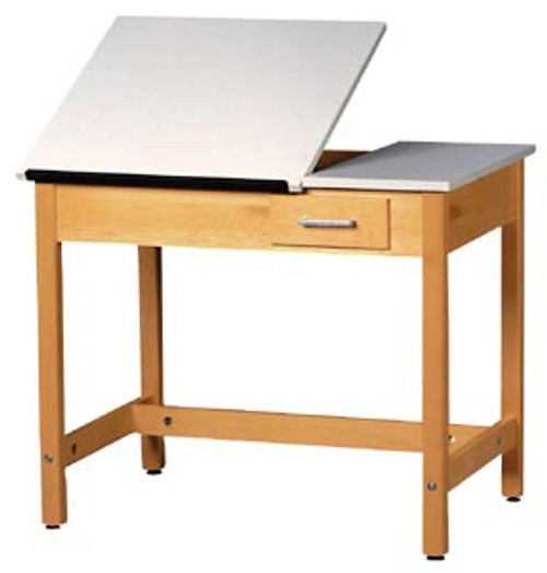 """Diversified Woodcrafts Two Piece Adjustable Drafting Table, 30""""H"""