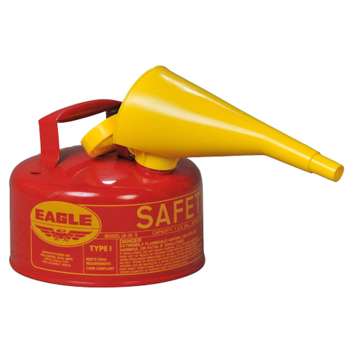 Eagle Type 1 Safety Can w/Funnel, 1 gal.