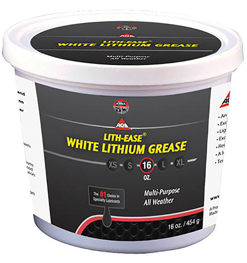 AGS White Lithium Grease, 16 oz.